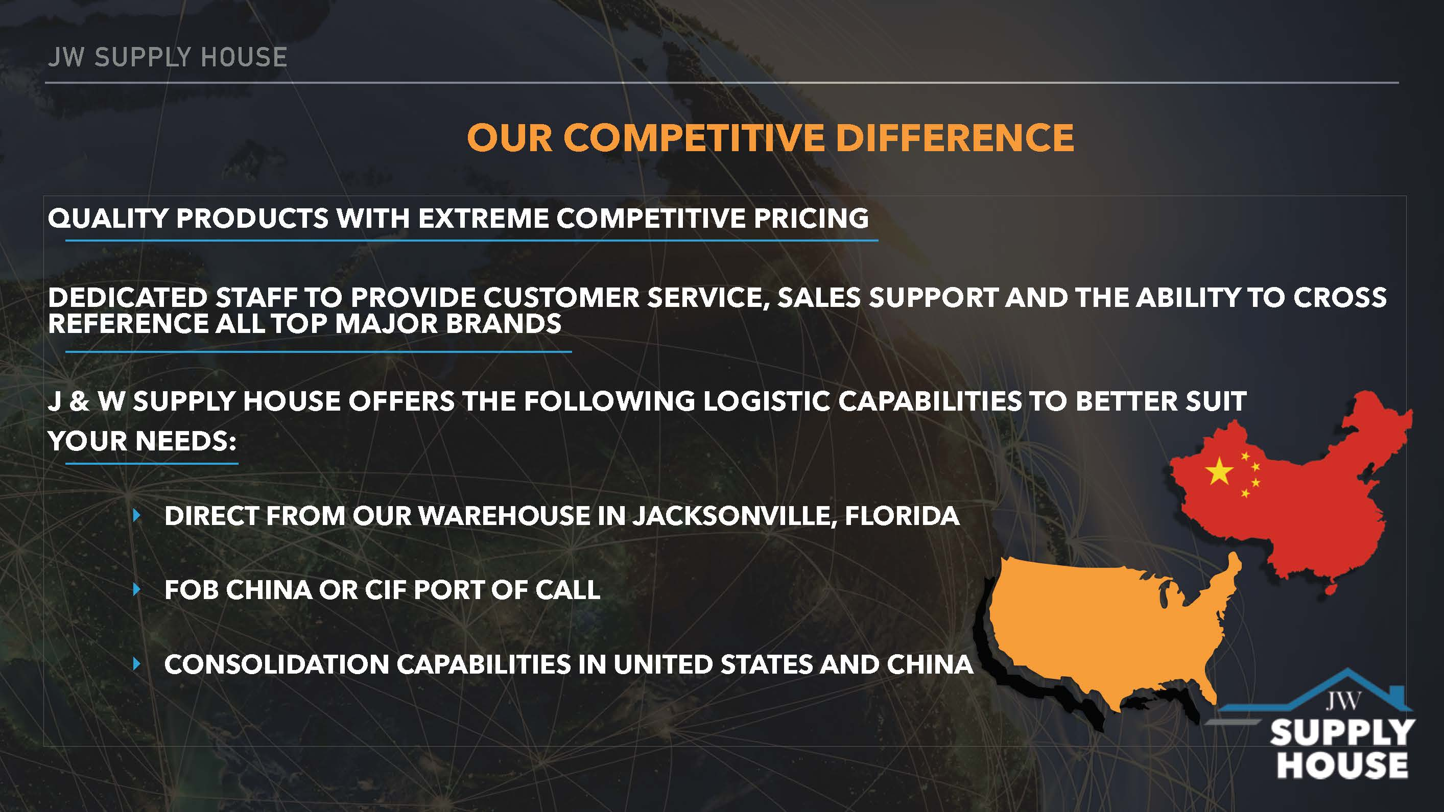 JW Supply House - Our Competitive Difference